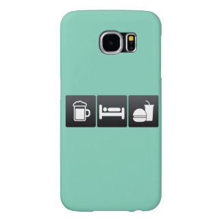 Drink, Sleep and Fast Food Samsung Galaxy S6 Cases