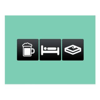 Drink, Sleep and French toast Postcard