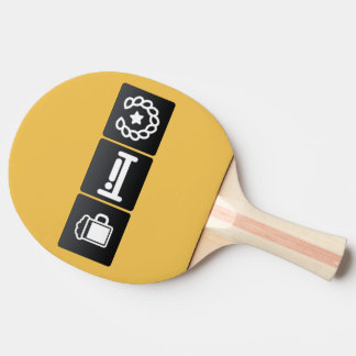 Drink, Sleep and Medals Ping-Pong Paddle