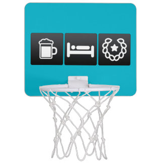 Drink, Sleep and Medals Mini Basketball Hoops