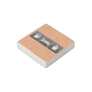 Drink, Sleep and Milk Cartons Stone Magnet