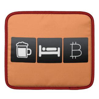 Drink, Sleep and Monetary Symbols Sleeve For iPads