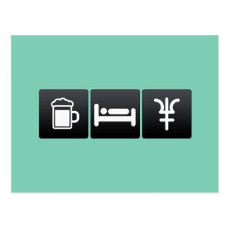 Drink, Sleep and Neptune Postcard