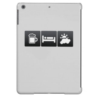 Drink, Sleep and Partly Cloudy Weather iPad Air Cases