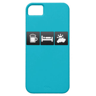 Drink, Sleep and Partly Cloudy Weather iPhone 5 Covers