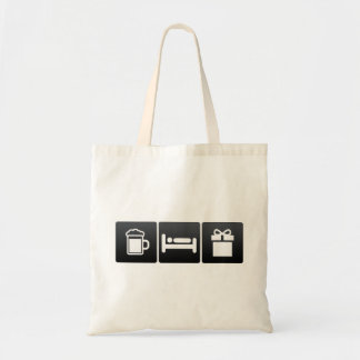 Drink, Sleep and Receiving Gifts Budget Tote Bag
