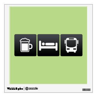 Drink, Sleep and Riding Buses Wall Decor