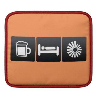 Drink, Sleep and Rotating Vectors iPad Sleeve