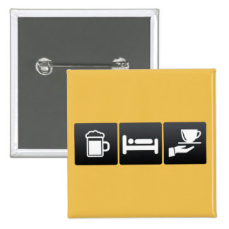 Drink, Sleep and Serving Coffee 2 Inch Square Button