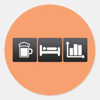 Drink, Sleep and Statistics Classic Round Sticker