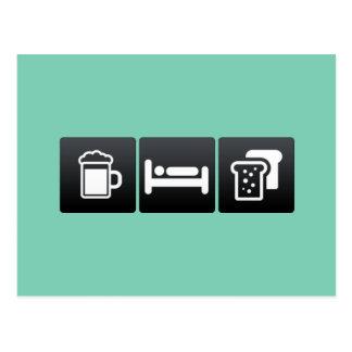 Drink, Sleep and toast Postcard
