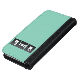 Drink, Sleep and TV Stations iPhone 6 Wallet Case