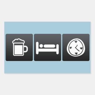 Drink, Sleep and Valentine�s Day Gifts Rectangular Sticker