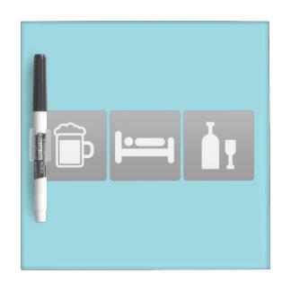 Drink, Sleep and vodka Dry-Erase Whiteboard
