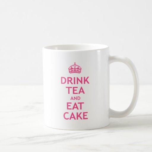 Drink Tea and Eat Cake Classic White Coffee Mug