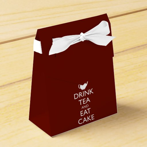 DRINK TEA AND EAT CAKE FAVOR BOX