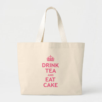 Drink Tea and Eat Cake Large Tote Bag