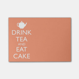 DRINK TEA AND EAT CAKE POST-IT NOTES