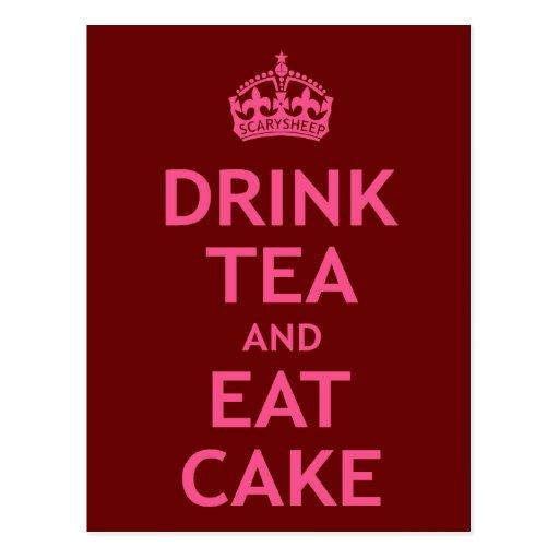 Drink Tea and Eat Cake Postcard
