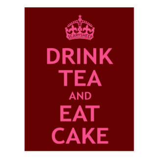 Drink Tea and Eat Cake Postcards