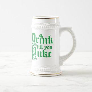 Drink Til You Puke Beer Stein