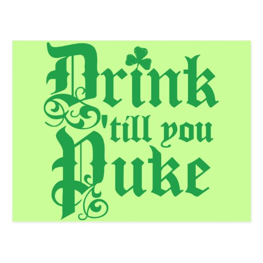 Drink Til You Puke Postcard