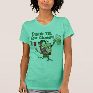 Drink Till Yer Green Leprechaun Shirt