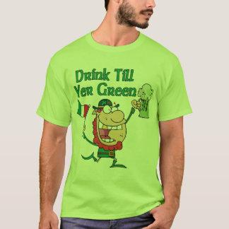 Drink Till Yer Green Leprechaun Tee Shirt