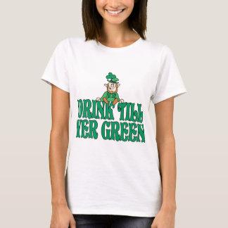 Drink Till Yer Green Tee Shirt