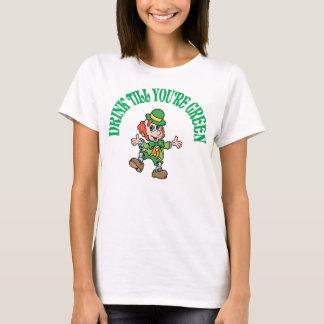 Drink Till You're Green Leprechaun T-Shirt