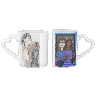 Drink to Interracial Love Coffee Mug Set