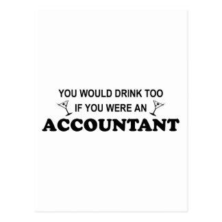 Drink Too - Accountant Postcard