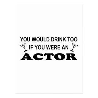 Drink Too - Actor Postcard