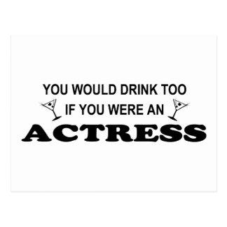 Drink Too - Actress Postcard