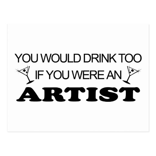 Drink Too - Artist Postcard