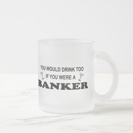 Drink Too - Banker 10 Oz Frosted Glass Coffee Mug