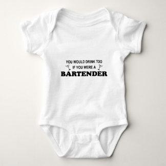 Drink Too - Bartender Baby Bodysuit
