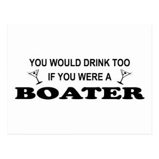 Drink Too - Boater Post Cards