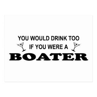 Drink Too - Boater Postcard