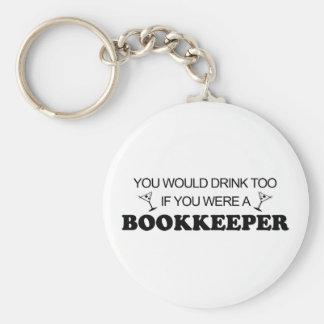 Drink Too - Bookkeeper Keychain
