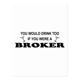 Drink Too - Broker Postcard