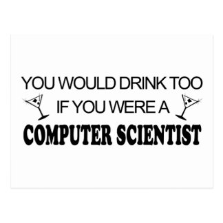 Drink Too - Computer Scientist Postcard
