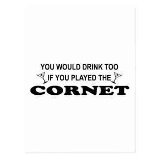 Drink Too - Cornet Postcard