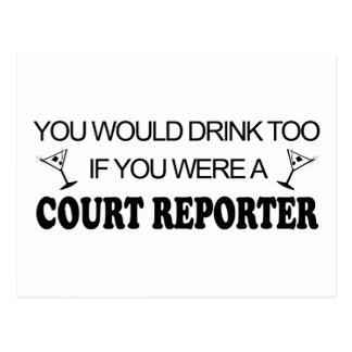 Drink Too - Court Reporter Postcard