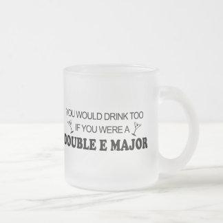 Drink Too - Double E Major Frosted Glass Coffee Mug