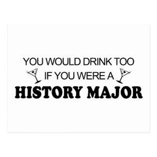 Drink Too - History Major Postcard