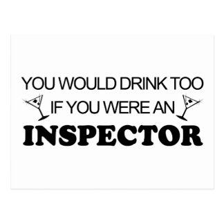Drink Too - Inspector Postcard