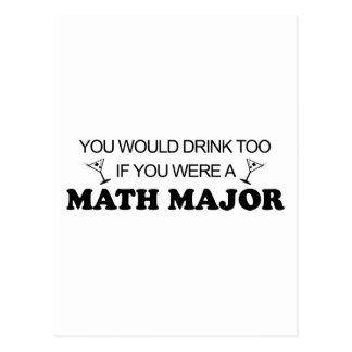 Drink Too - Math Major Postcard