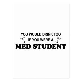 Drink Too - Med Student Postcard