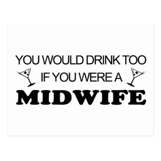 Drink Too - Midwife Postcard
